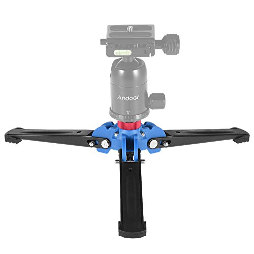 """Andoer Kamera Stativ Mini Tripod Drei Bein Fotografie Einbeinstativ Einbeinstativ Standfuß-Halter-Unterstützung mit 3/8 \""""Schraube für Stativ Fluid-Kugelkopf"""