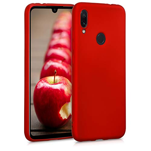kwmobile Funda Compatible con Xiaomi Redmi Note 7 / Note 7 Pro - Carcasa móvil de Silicona - Protector Trasero en Rojo Oscuro Metalizado