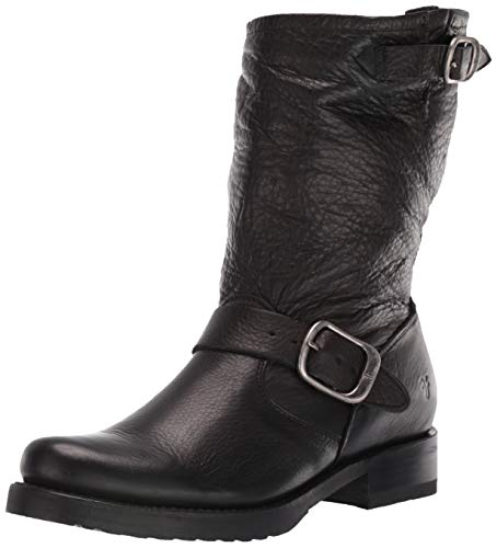 FRYE Women's Veronica Short Boot, Black Soft Vintage Leather-76509, 7