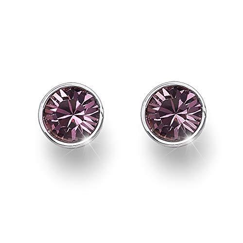 OLIVER WEBER   Ohrstecker Uno rhodiniertantique pink   DAMEN   veredelt mit Kristallen von Swarovski®   Designed in AUSTRIA   22623 920