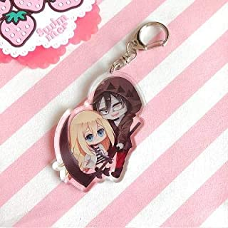 Game Store America 1Pcs Japan Anime Angels of Death Key Chain Acrylic Cartoon Character Mobile Pendant Keychain Key Holder Color / Size : G
