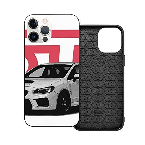 Compatibile con iPhone 12/11 PRO Max 12 Mini SE X/XS Max XR 8 7 6 6s Plus Custodie WRC JDM Racing Car STI Subaru Rally WRX Nero Custodie per Telefoni Cover