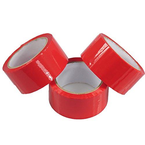 triplast 48mm x 66m Bajo Ruido cinta embalaje paquete–rojo (Pack de 6)