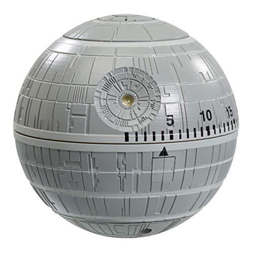 Eieruhr Star Wars Todesstern, Kurzzeitmesser mit Star Wars-Geräuschen bei Zeitablauf, batteriebetrieben, SciFi-Timer für Star Wars Fans, Maße: 6 x 5,5 x 7 cm