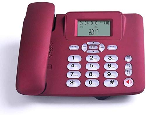 Samanthaa Teléfono Retro Teléfono Home Desktop Button Dial Teléfono Office Desktop Business Landline (Color : Red)