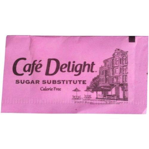 Cafe Delight Pink Saccharin Packet, 0.8 Gram -- 1000 per case.