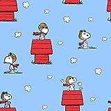 Snoopy Stoff – Snoopy Red Baron auf Blau – SC239 –