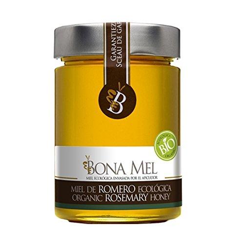 Bio Rosmarin Honig, Direktimport vom Bio Erzeuger aus Spanien, 450 g, 100 % roher und natur, naturbelassen, reine Bio - Imker Abfüllung, nur eigene Bienen, Rosmarinhonig