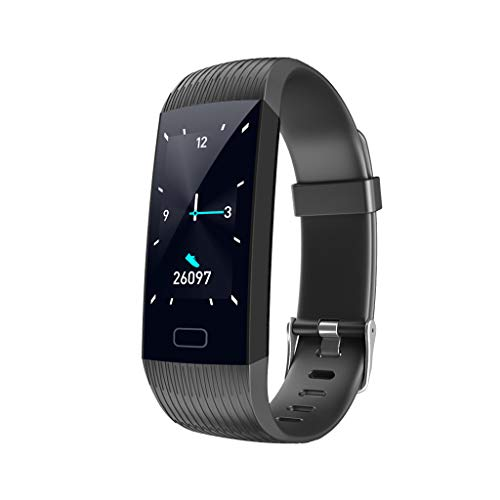 LQIAN X6 Fitness Smartwatch, IP67 Wasserdicht mit GPS Schrittzähler Uhr Herzfrequenz mit Herzfrequenzmesser Blutsauerstoff Damen Herren Geschenk, Schrittzähler, Herzfrequenz/Schlafan (Schwarz)