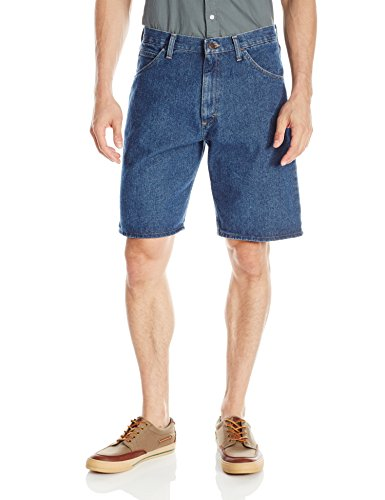 Wrangler Authentics Men's Classic Relaxed Fit Five Pocket Jean Short, Stonewash Dark, 42