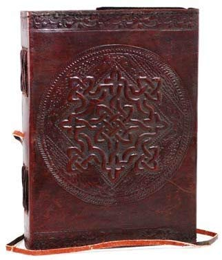 18 cm New Age Celtic Knot Leather Blank Book grimoire leather journal book of shadows spell book leather diary journal notebook sketchbook gift for artists