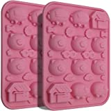 QA 20 Little Pigs in 2 Blanket Silicone Baking Molds, Non-Stick Cute Piggy Mould Baking Pan for DIY Chocolate Candy Cake Fondant Jello Pops Ice Cube Tray (Small)