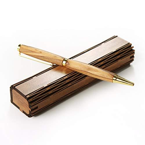 KASSIS Olivenholz Kugelschreiber in Holzschachtel Geschenk zum Geburtstag Jubiläum Abschluss