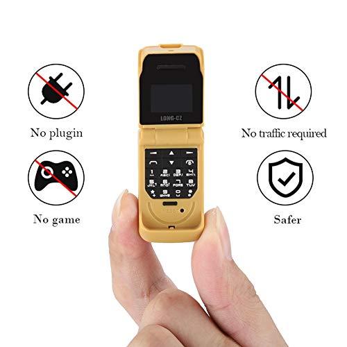 Pusokei Toy Phone - Multifunktionale Tastatur Flip-Phone-Telefone für Kinder Baby-Handy-Spielzeug mit Radio, Blacklist, Bluetooth, SOS mit Einer Taste, Wecker, Kalender usw.