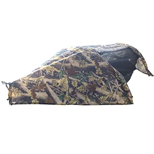 CUTICATE Camping Hammock with Mosquito Net and Rainfly & Tree Straps, Lightweight Portable Hammock for Backpacking, Camping, Travel, Beach, Yard - Camouflage