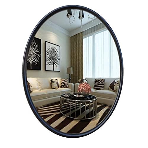 CHHD Espejo de tocador de baño, Espejo de Maquillaje Espejos de baño montados en la Pared, Espejo de Pared Ovalado de Estilo Europeo de Alta definición Enmarcado en Resina, Traje de DEC