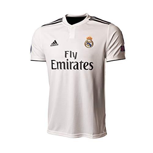 adidas Real EU H JSY Camiseta, Hombre, Blanco, M