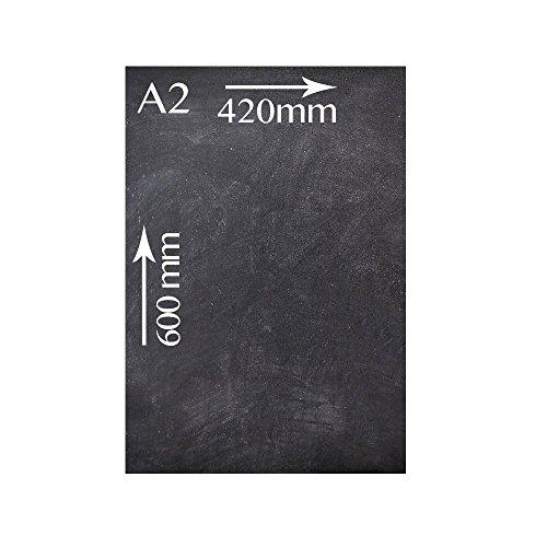 Chalkboards UK Pizarra sin Marco A2 42 x 60 cm, Madera, Negro, 420 x 600 mm ✅