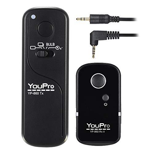 Cuculo YP-860 II L1 2.4G Controle remoto sem fio Temporizador LCD Receptor do de liberação do obturador 16 canais para DMC-FZ50 DMC-FZ50K DMC-FZ50S GH5 GH4 GH3 GX8 GX8