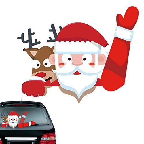 Vanoda Kerstmis achterkant wisser sticker sticker wisserstickers, kerstman/sneeuwman hoek wisser sticker sticker voor auto achterruit, stickers en stickers styling decor