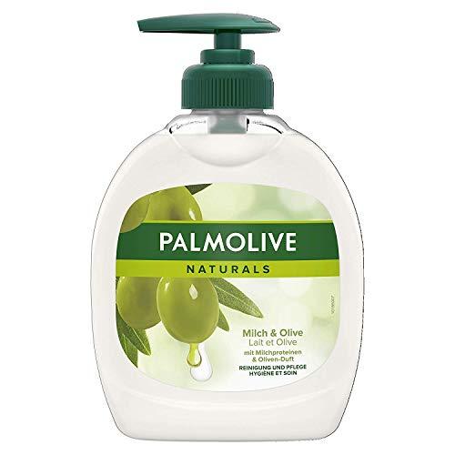 Palmolive Naturals Milch & Olive Flüssigseife, 4er Pack (4 x 300 ml)