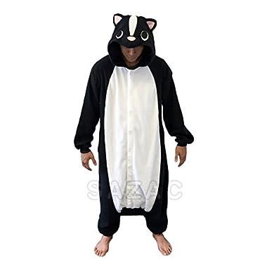 Skunk Kigurumi - Adult Costume, Black & White