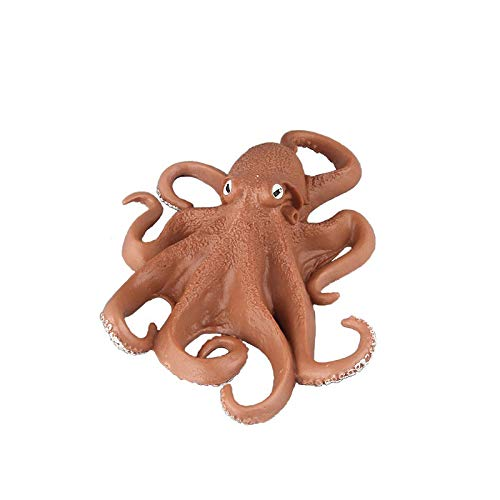 Warmtree Simulated Sea Life Animals Figurines Realistic Sea Creature Model Plastic Ocean Animals Action Figure for Collection Science Educational (Octopus)