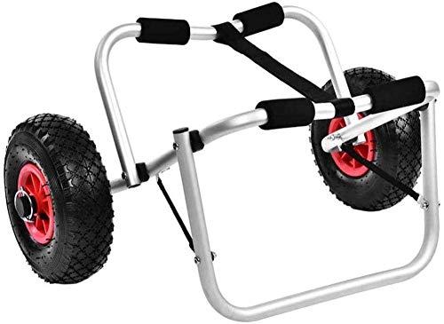 HY-WWK Klappwagen Dolly Boot Transportwagen 2-Rad Aluminium Kanu Träger Rollwagen Rollluftreifen
