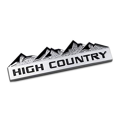 High Country Stemmi Emblemi Distintivo Adesivo Decalcomania per J-eep Wrangler JK Compass Grand Cherokee Patriot,Argento