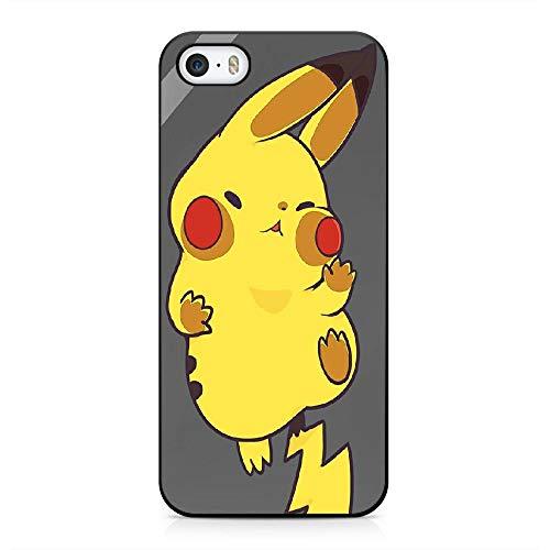 RO&CO Funda iPhone 5 / iPhone 5S / iPhone SE Case Pokémon Pikachu Black Silicone Soft Case I-013