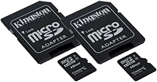 Nokia N-Gage QD Cell Phone Memory Card 2 x 16GB microSDHC Memory Card with SD Adapter (2 Pack)
