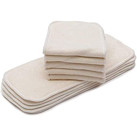 10Pcs Fityle 5//10pcs 5 Layers Bamboo Fiber Insert Liners Reusable Cloth Diaper /& Covers as described