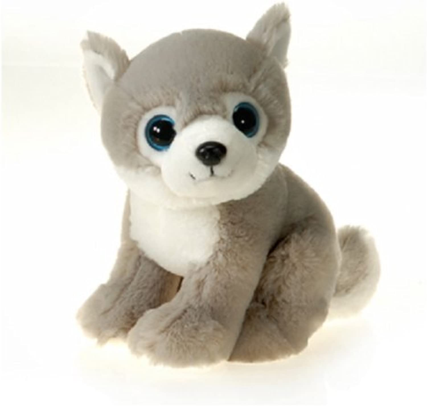 9 Sitting Wolf with Big Eyes Plush Stuffed Stuffed Stuffed Animal