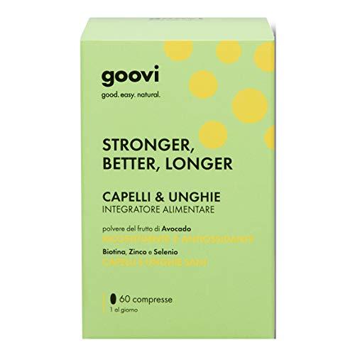 Goovi Integratore Alimentare Stronger Better Longer Capelli e Unghie, 60 Compresse