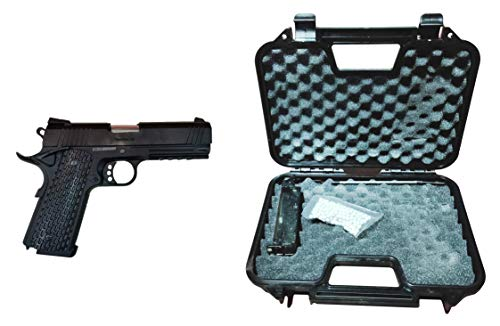 GOLDEN EAGLE Pistola Gas 1911 Night Warrior 4.3 con maletín Color Negro