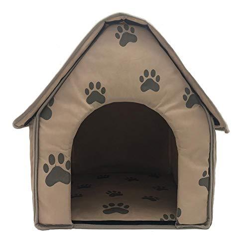 knowledgi Mascota Habitacion Plegable Portátil Casa Caseta Mascota Grande Perro Casa Perros Camas con Alfombrilla para Mascota Cama para Perro O Gato