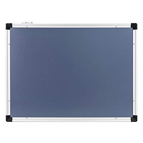 AmazonBasics - Pizarra blanca magnética con bandeja para rotuladores y marco de aluminio, 60 x 90 cm