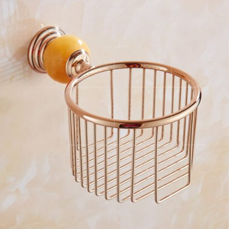 Znzbzt bathrooms are pink gold towel rack toilet jade bath towel rack toilet, Metal Pendant, pink gold jade tissue Basket