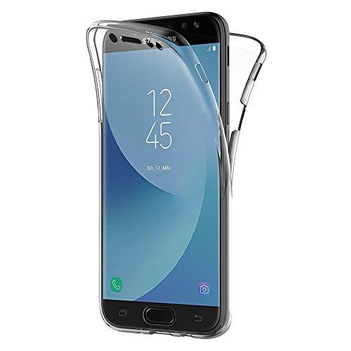 AICEK Cover Compatible Samsung Galaxy J7 2017, 360° Full Body Cover Samsung J7 2017 Silicone Case Molle di TPU Trasparente Sottile Custodia per Galaxy J7 2017 (5,5 Pollici SM-J730F)