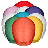Maikerry 20 Pack Handmade Chinese Lanterns 100% Biodegradable Wish Colorful Paper Lantern for Memorial New Year Celebrations Weddings, Eco-Friendly Flying Lanterns to Release in Sky (Color1)
