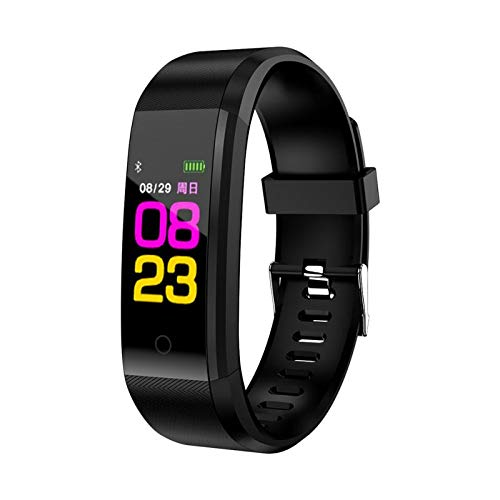 Leobtain Fitness Tracker Pantalla a Color Monitor de Ritmo Cardíaco Presión Arterial Pulsera Inteligente Relojes… 1