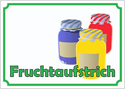 Fruit Spread Jam ad Sticker Polite Verkaufsförderung - Multicolour, A4 (210x297mm)