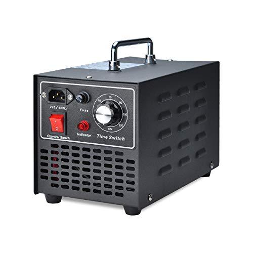Songway Ozone Generator Esterilizador de aire para eliminar olores, para hogar, cocina, automóvil, garaje, autobús, barco, restaurante, tienda, purificador de aire - Enchufe de la UE (10000mg/h)