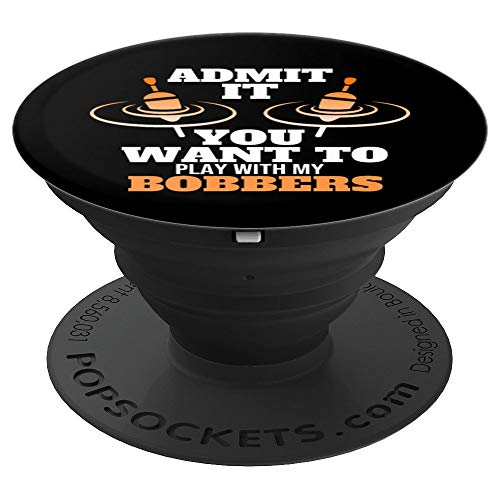Funny Fishing Gift Boobie Bobber Shirt Funny Gift PopSockets Grip and Stand for Phones and Tablets