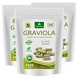 MoriVeda® Graviola Frucht-Extrakt Kapseln 360 x 1800mg – 100% natürlich I Graviola Kapseln,...