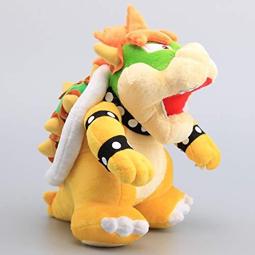 lhtczzb 25 Cm Super Mario Bros Bowser King Koopa Jaune Kawaii en Peluche Poupées Douces, Enfants Cadeau Charmant pour Les Enfants en Peluche