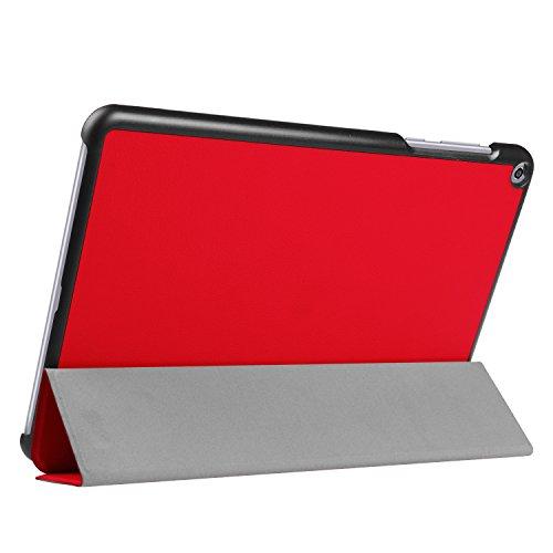 Kepuch Custer Hülle für ASUS Zenpad Z10 ZT500KL/3S 10 Z500KL,Smart PU-Leder Hüllen Schutzhülle Tasche Hülle Cover für ASUS Zenpad Z10 ZT500KL/3S 10 Z500KL - Rot