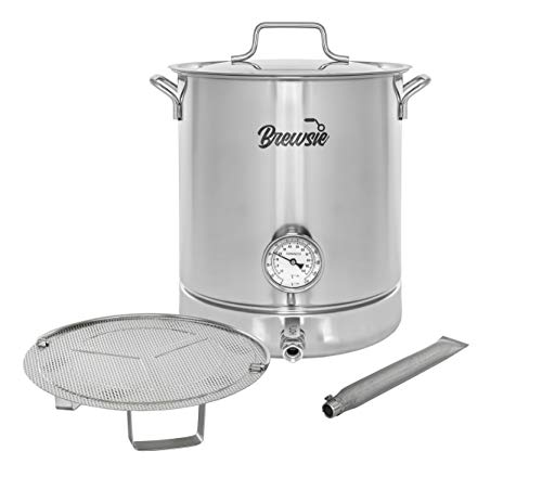 Stainless Steel Home Brew Kettle w/Dual Filtration. (8 Gal/ 32 QT)