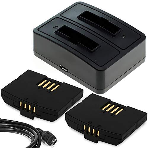 CELLONIC 2X Qualitäts Akku inkl. Ladegerät kompatibel mit Sennheiser RS 4200 RR 4200 RR 840 RI 410 RI 830 RI 900 is 410 HDI 830, Set 840 TV Set 840-S Set 900 Set 830, 150mAh BA 300 BA300 Batterie