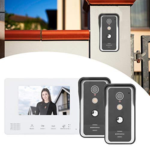 Videoportero, aleación de aluminio + timbre con video a prueba de lluvia de plástico ABS para seguridad en el hogar